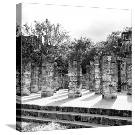 ¡Viva Mexico! Square Collection - One Thousand Mayan Columns in Chichen Itza V-Philippe Hugonnard-Stretched Canvas Print