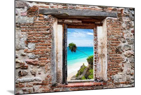 ¡Viva Mexico! Window View - Caribbean Coastline-Philippe Hugonnard-Mounted Photographic Print