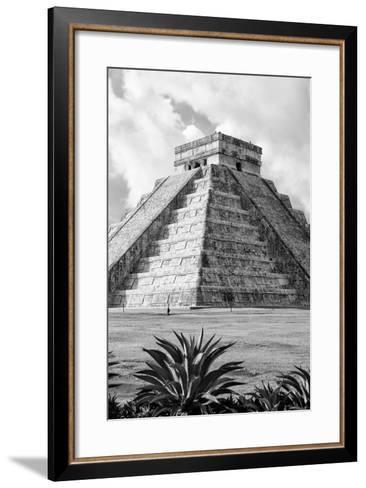 ?Viva Mexico! B&W Collection - El Castillo Pyramid V - Chichen Itza-Philippe Hugonnard-Framed Art Print