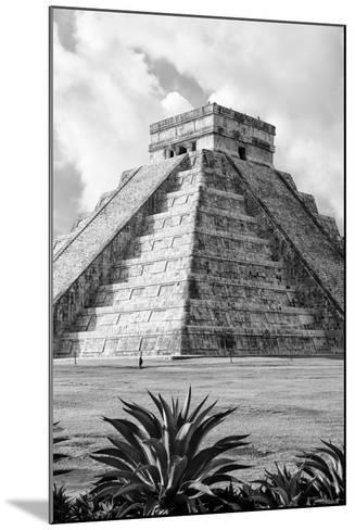 ?Viva Mexico! B&W Collection - El Castillo Pyramid V - Chichen Itza-Philippe Hugonnard-Mounted Photographic Print