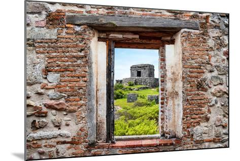 ?Viva Mexico! Window View - Ancient Mayan Fortress in Tulum-Philippe Hugonnard-Mounted Photographic Print