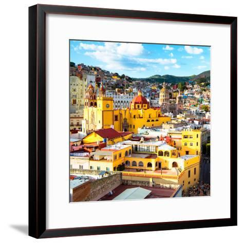 ¡Viva Mexico! Square Collection - Church Domes in Guanajuato-Philippe Hugonnard-Framed Art Print