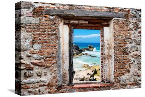?Viva Mexico! Window View - Isla Mujeres Coastline-Philippe Hugonnard-Stretched Canvas Print