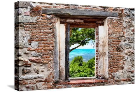 ?Viva Mexico! Window View - Peaceful Paradise in Isla Mujeres-Philippe Hugonnard-Stretched Canvas Print