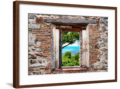 ?Viva Mexico! Window View - Peaceful Paradise in Isla Mujeres-Philippe Hugonnard-Framed Art Print
