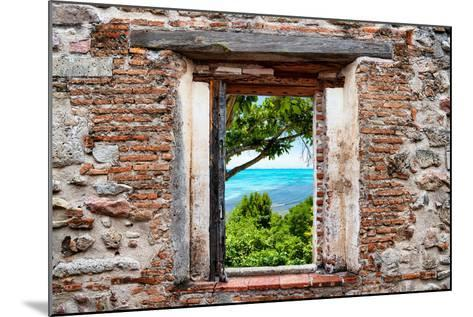 ?Viva Mexico! Window View - Peaceful Paradise in Isla Mujeres-Philippe Hugonnard-Mounted Photographic Print