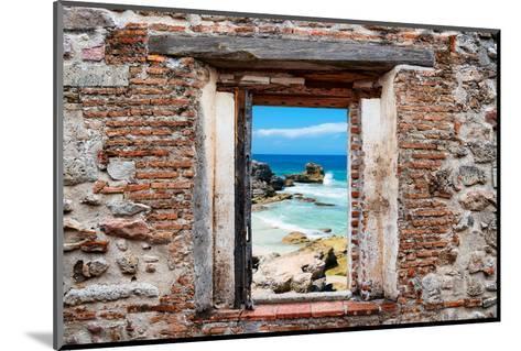 ?Viva Mexico! Window View - Isla Mujeres Coastline-Philippe Hugonnard-Mounted Photographic Print