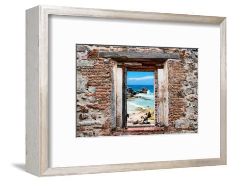 ?Viva Mexico! Window View - Isla Mujeres Coastline-Philippe Hugonnard-Framed Art Print