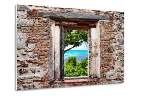?Viva Mexico! Window View - Peaceful Paradise in Isla Mujeres-Philippe Hugonnard-Metal Print