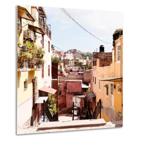 ¡Viva Mexico! Square Collection - Colorful Street in Guanajuato II-Philippe Hugonnard-Metal Print