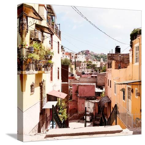 ¡Viva Mexico! Square Collection - Colorful Street in Guanajuato II-Philippe Hugonnard-Stretched Canvas Print