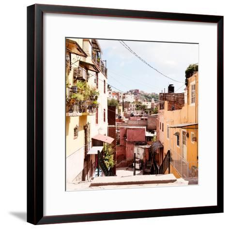 ¡Viva Mexico! Square Collection - Colorful Street in Guanajuato II-Philippe Hugonnard-Framed Art Print