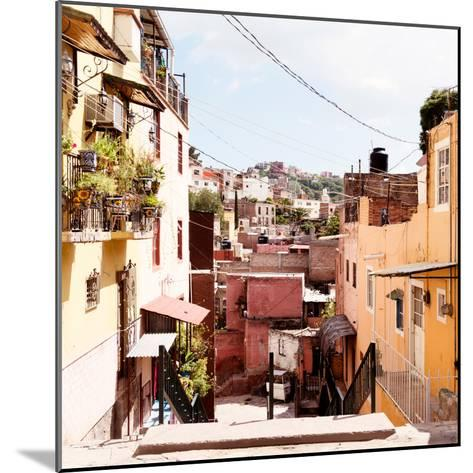 ¡Viva Mexico! Square Collection - Colorful Street in Guanajuato II-Philippe Hugonnard-Mounted Photographic Print