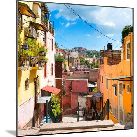 ¡Viva Mexico! Square Collection - Colorful Street in Guanajuato-Philippe Hugonnard-Mounted Photographic Print