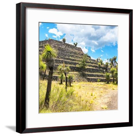 ¡Viva Mexico! Square Collection - Cantona Archaeological Ruins VI-Philippe Hugonnard-Framed Art Print