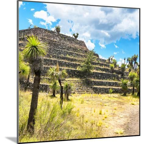 ¡Viva Mexico! Square Collection - Cantona Archaeological Ruins VI-Philippe Hugonnard-Mounted Photographic Print