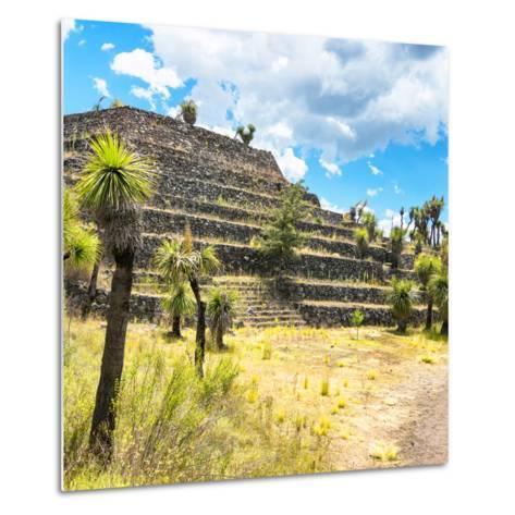 ¡Viva Mexico! Square Collection - Cantona Archaeological Ruins VI-Philippe Hugonnard-Metal Print
