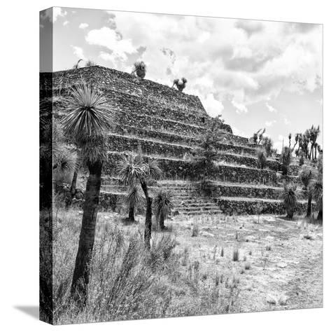 ¡Viva Mexico! Square Collection - Cantona Archaeological Ruins VIII-Philippe Hugonnard-Stretched Canvas Print