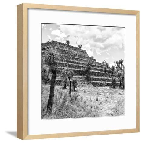¡Viva Mexico! Square Collection - Cantona Archaeological Ruins VIII-Philippe Hugonnard-Framed Art Print