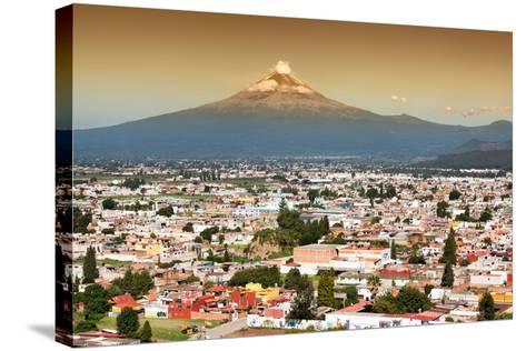 ?Viva Mexico! Collection - Popocatepetl Volcano in Puebla at Sunset-Philippe Hugonnard-Stretched Canvas Print