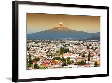 ?Viva Mexico! Collection - Popocatepetl Volcano in Puebla at Sunset-Philippe Hugonnard-Framed Art Print