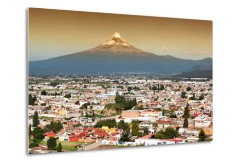 ?Viva Mexico! Collection - Popocatepetl Volcano in Puebla at Sunset-Philippe Hugonnard-Metal Print