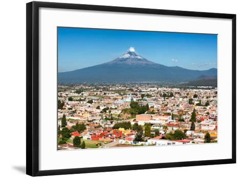 ?Viva Mexico! Collection - Popocatepetl Volcano in Puebla-Philippe Hugonnard-Framed Art Print