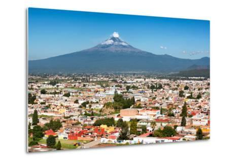 ?Viva Mexico! Collection - Popocatepetl Volcano in Puebla-Philippe Hugonnard-Metal Print