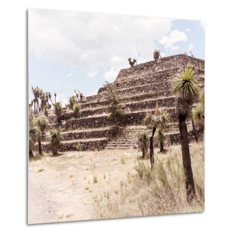 ¡Viva Mexico! Square Collection - Cantona Archaeological Ruins VII-Philippe Hugonnard-Metal Print