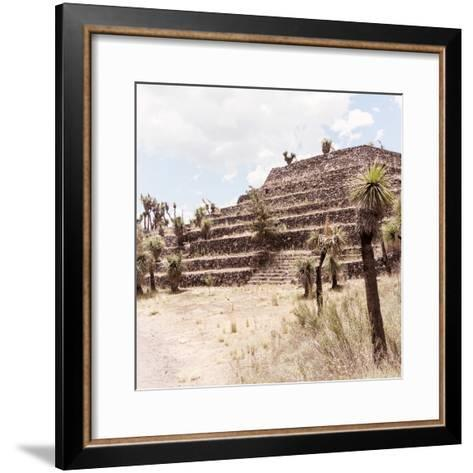 ¡Viva Mexico! Square Collection - Cantona Archaeological Ruins VII-Philippe Hugonnard-Framed Art Print