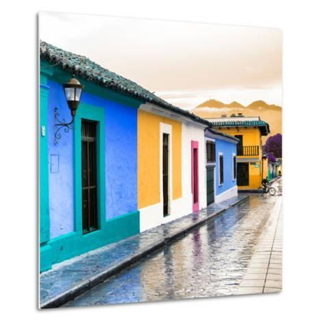 ¡Viva Mexico! Square Collection - Colorful Street in San Cristobal II-Philippe Hugonnard-Metal Print