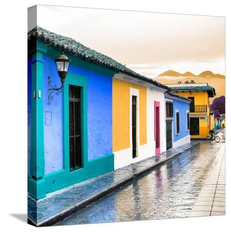 ¡Viva Mexico! Square Collection - Colorful Street in San Cristobal II-Philippe Hugonnard-Stretched Canvas Print