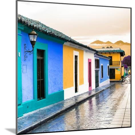 ¡Viva Mexico! Square Collection - Colorful Street in San Cristobal II-Philippe Hugonnard-Mounted Photographic Print