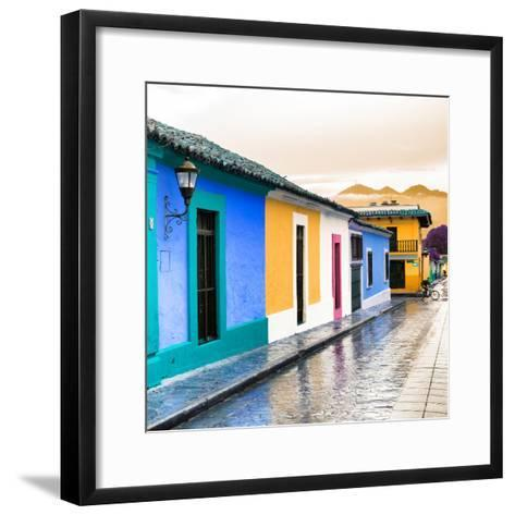 ¡Viva Mexico! Square Collection - Colorful Street in San Cristobal II-Philippe Hugonnard-Framed Art Print