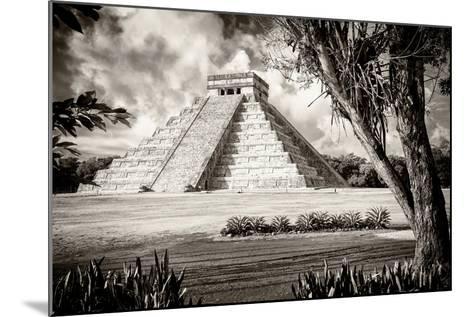 ?Viva Mexico! B&W Collection - El Castillo Pyramid XII - Chichen Itza-Philippe Hugonnard-Mounted Photographic Print
