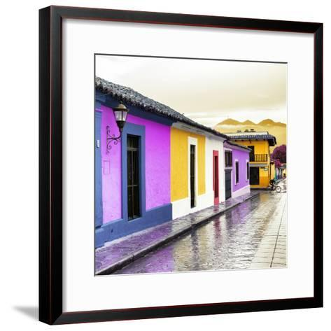 ¡Viva Mexico! Square Collection - Colorful Street in San Cristobal IV-Philippe Hugonnard-Framed Art Print