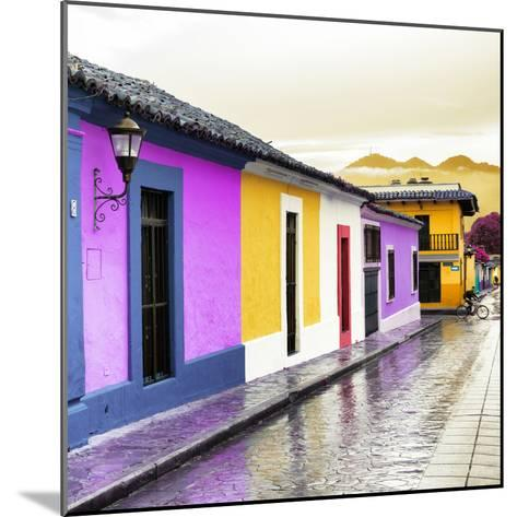 ¡Viva Mexico! Square Collection - Colorful Street in San Cristobal IV-Philippe Hugonnard-Mounted Photographic Print