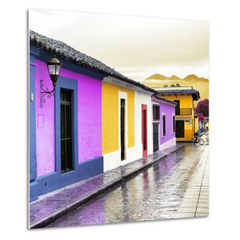 ¡Viva Mexico! Square Collection - Colorful Street in San Cristobal IV-Philippe Hugonnard-Metal Print