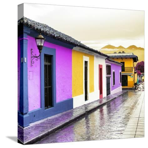 ¡Viva Mexico! Square Collection - Colorful Street in San Cristobal IV-Philippe Hugonnard-Stretched Canvas Print