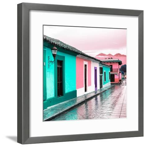¡Viva Mexico! Square Collection - Colorful Street in San Cristobal III-Philippe Hugonnard-Framed Art Print