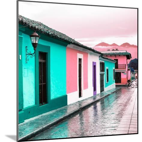 ¡Viva Mexico! Square Collection - Colorful Street in San Cristobal III-Philippe Hugonnard-Mounted Photographic Print
