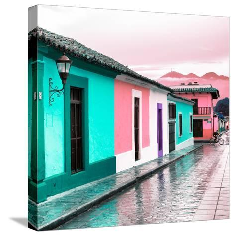¡Viva Mexico! Square Collection - Colorful Street in San Cristobal III-Philippe Hugonnard-Stretched Canvas Print
