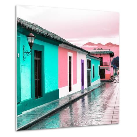 ¡Viva Mexico! Square Collection - Colorful Street in San Cristobal III-Philippe Hugonnard-Metal Print