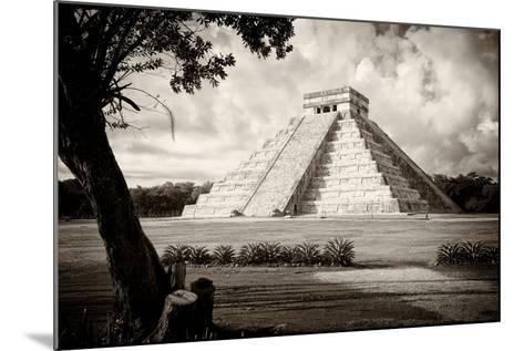 ?Viva Mexico! B&W Collection - Chichen Itza Pyramid I-Philippe Hugonnard-Mounted Photographic Print