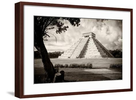 ?Viva Mexico! B&W Collection - Chichen Itza Pyramid I-Philippe Hugonnard-Framed Art Print