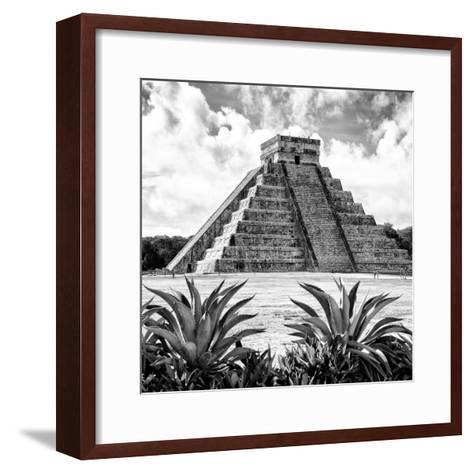 ¡Viva Mexico! Square Collection - Pyramid Chichen Itza X-Philippe Hugonnard-Framed Art Print