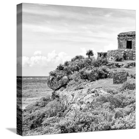 ¡Viva Mexico! Square Collection - Ancient Mayan Fortress in Riviera Maya II - Tulum-Philippe Hugonnard-Stretched Canvas Print