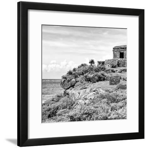 ¡Viva Mexico! Square Collection - Ancient Mayan Fortress in Riviera Maya II - Tulum-Philippe Hugonnard-Framed Art Print