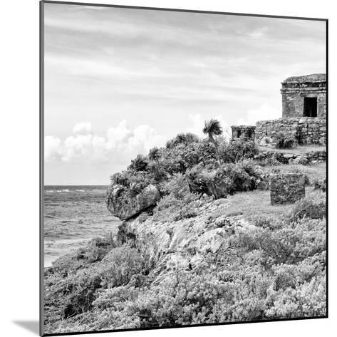 ¡Viva Mexico! Square Collection - Ancient Mayan Fortress in Riviera Maya II - Tulum-Philippe Hugonnard-Mounted Photographic Print