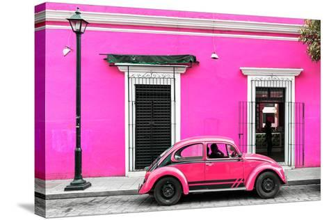 ?Viva Mexico! Collection - VW Beetle Car - Deep & Hot Pink-Philippe Hugonnard-Stretched Canvas Print